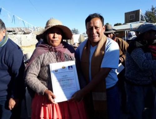 115 regantes de la comunidad paceña de Catacora fueron  certificados como