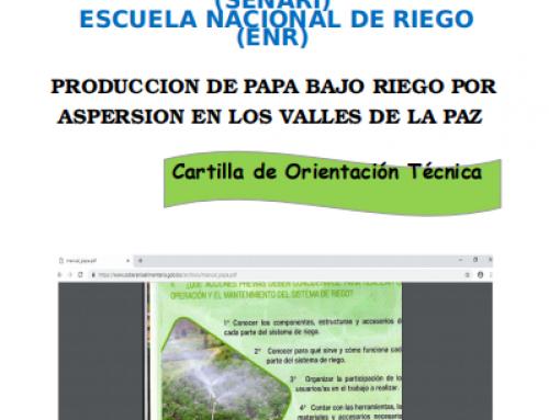 PRODUCCION DE PAPA BAJO RIEGO POR  ASPERSION EN LOS VALLES DE LA PAZ