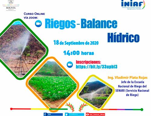 CURSO BALANCE HÍDRICO DE CULTIVOS