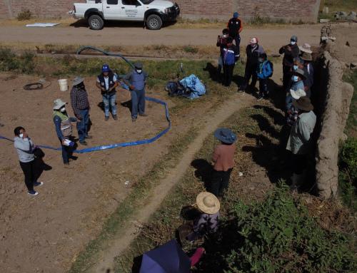 Capacitación en Operación y Mantenimiento del sistema de riego, en la comunidad de Mallco Rancho