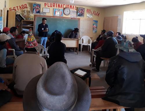 SENARI realizó cursos de capacitación en Potosí