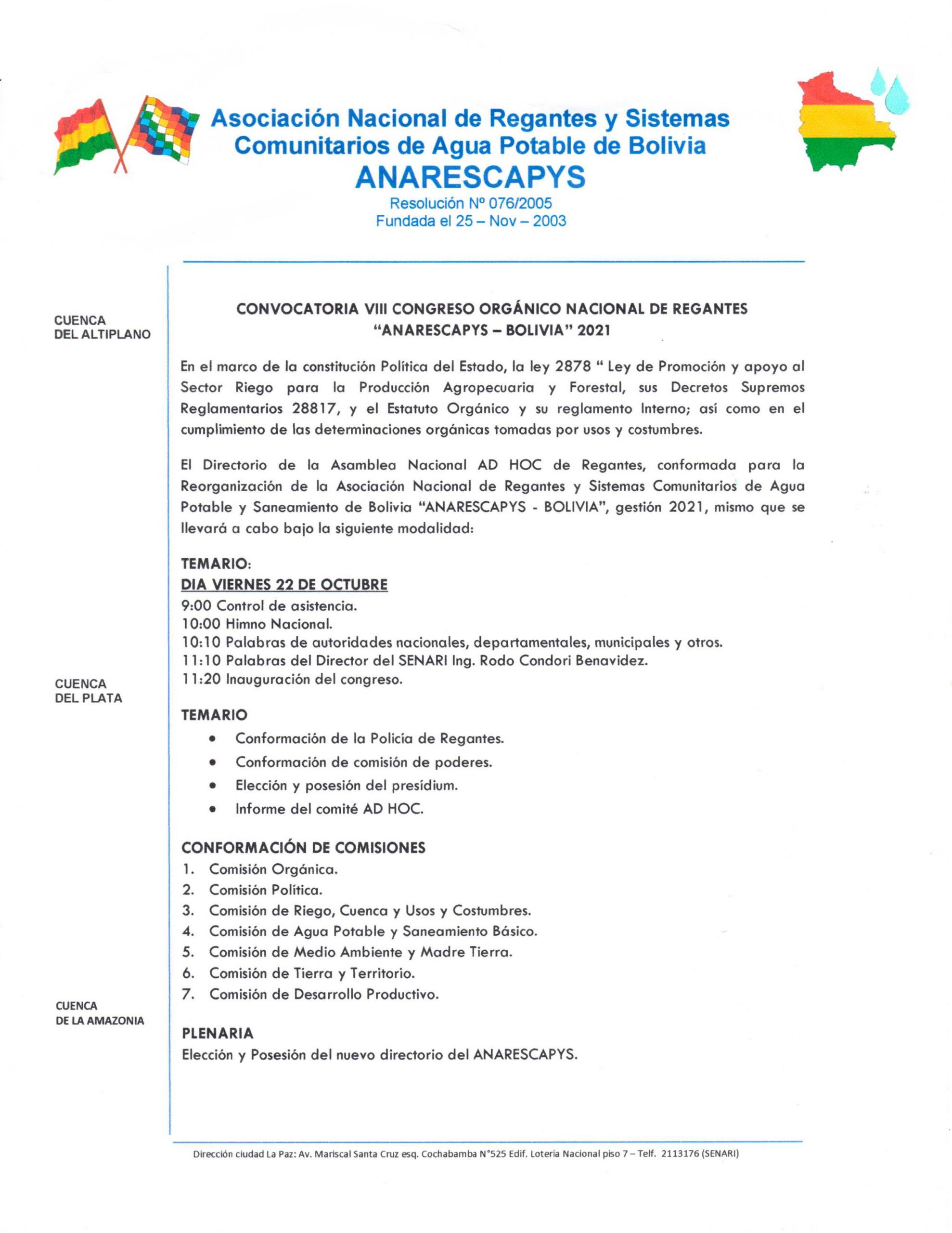 Reunión nacional de ANARESCAPYS en el SENARI